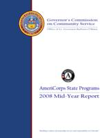 AmeriCorps state programs 2008 mid-year report