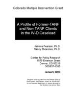 A profile of former-TANF and non-TANF clients in the IV-D caseload