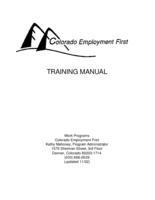 Colorado Employment First training manual