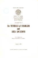The minerals of Colorado and area locations