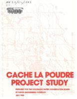 Cache la Poudre project study