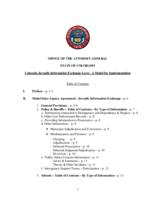 Colorado juvenile information exchange laws : a model for implementation