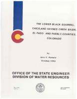 The lower Black Squirrel, Chico, and Haynes Creek Basin, El Paso and Pueblo Counties, Colorado