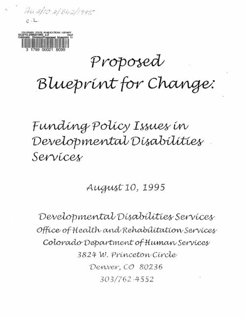 Proposed blueprint for change colorado state publications digital proposed blueprint for change malvernweather Image collections