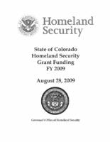 State of Colorado homeland security grant funding FY 2009