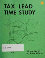 Tax lead time study