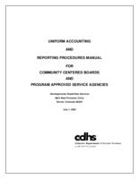 Uniform accounting and reporting procedures manual for community centered boards and program approved service agencies