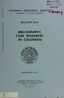 Bibliography, coal resources in Colorado