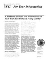 A resident married to a nonresident or part-year resident and filing jointly