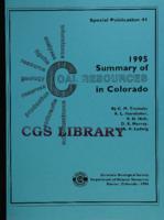 1996 summary of coal resources in Colorado