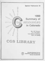 1990 summary of coal resources in Colorado