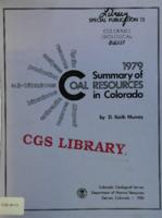 1979 summary of coal resources in Colorado