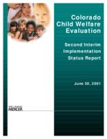 Colorado child welfare evaluation Second interim implementation status report