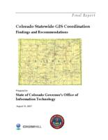 Colorado statewide GIS coordination