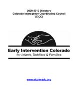 Early intervention Colorado state plan under part C of the Individuals with disabilities education act, 2009