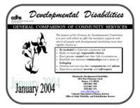 Developmental disabilities : general comparison of community services