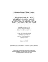 Child support and domestic violence : the victims speak out
