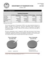 Department of Transportation FY 2013-14 budget request