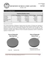 Department of Regulatory Agencies FY 2013-14 budget request