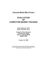 Evaluation of computer-based training