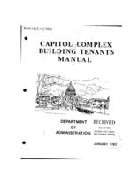 Capitol complex building tenants manual