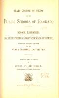 State course of study for the public schools of Colorado