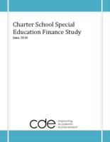 Charter school special education finance study