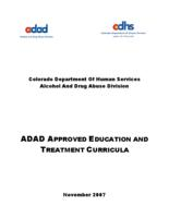 ADAD approved education and treatment curricula