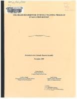 Colorado Regimented Juvenile Training Program evaluation report