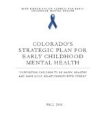 Colorado's strategic plan for early childhood mental health