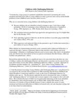 Children with challenging behavior : 2007 report to the Colorado State Legislature