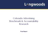 Colorado advertising benchmark & accountability research