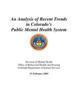 An analysis of recent trends in Colorado's public mental health system