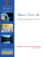 Regional Tourism Act : guidelines and application checklist