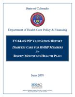 Diabetes care for RMHP members for Rocky Mountain Health Plan