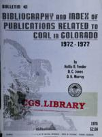 Bibliography and index of publications related to coal in Colorado, 1972-1977