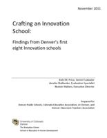 Crafting an innovation school : findings from Denver's first eight innovation schools