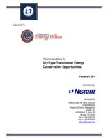 Recommendations for dry-type transformer energy conservation opportunities