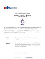 Domestic Violence Program strategic plan
