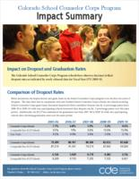 Colorado School Counselor Corps Program impact summary
