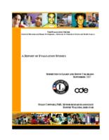 A report of evaluation studies : submitted to Learn and Serve Colorado
