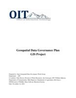 Geospatial data governance plan, GIS project