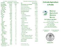 Colorado agriculture : a profile