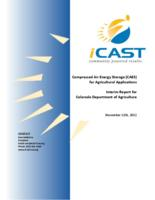 Compressed air energy storage (CAES) for agricultural applications : interim report for Colorado Department of Agriculture