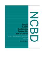 NCBD 2004 child Medicaid sponsor report, state of Colorado