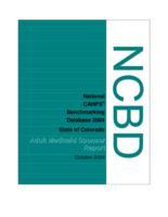 NCBD 2004 adult Medicaid sponsor report, state of Colorado