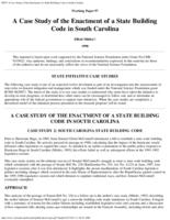 A case study of the enactment of a state building code in South Carolina