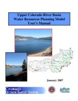 Upper Colorado River Basin water resources planning model user's manual