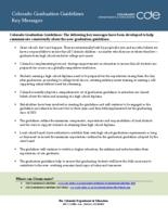 Colorado graduation guidelines key messages
