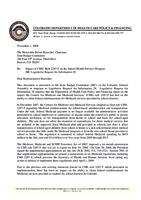 Impact of CMS' rule 2287-F on the School Health Services Program, JBC Legislative request for information 28